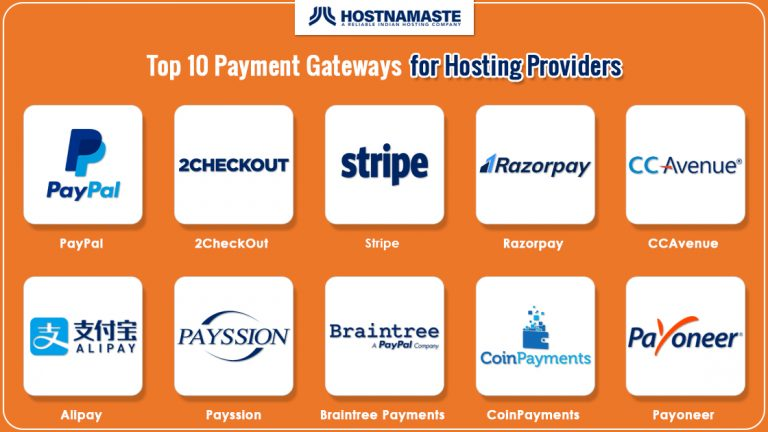 Top 10 Payment Gateways for Hosting Providers